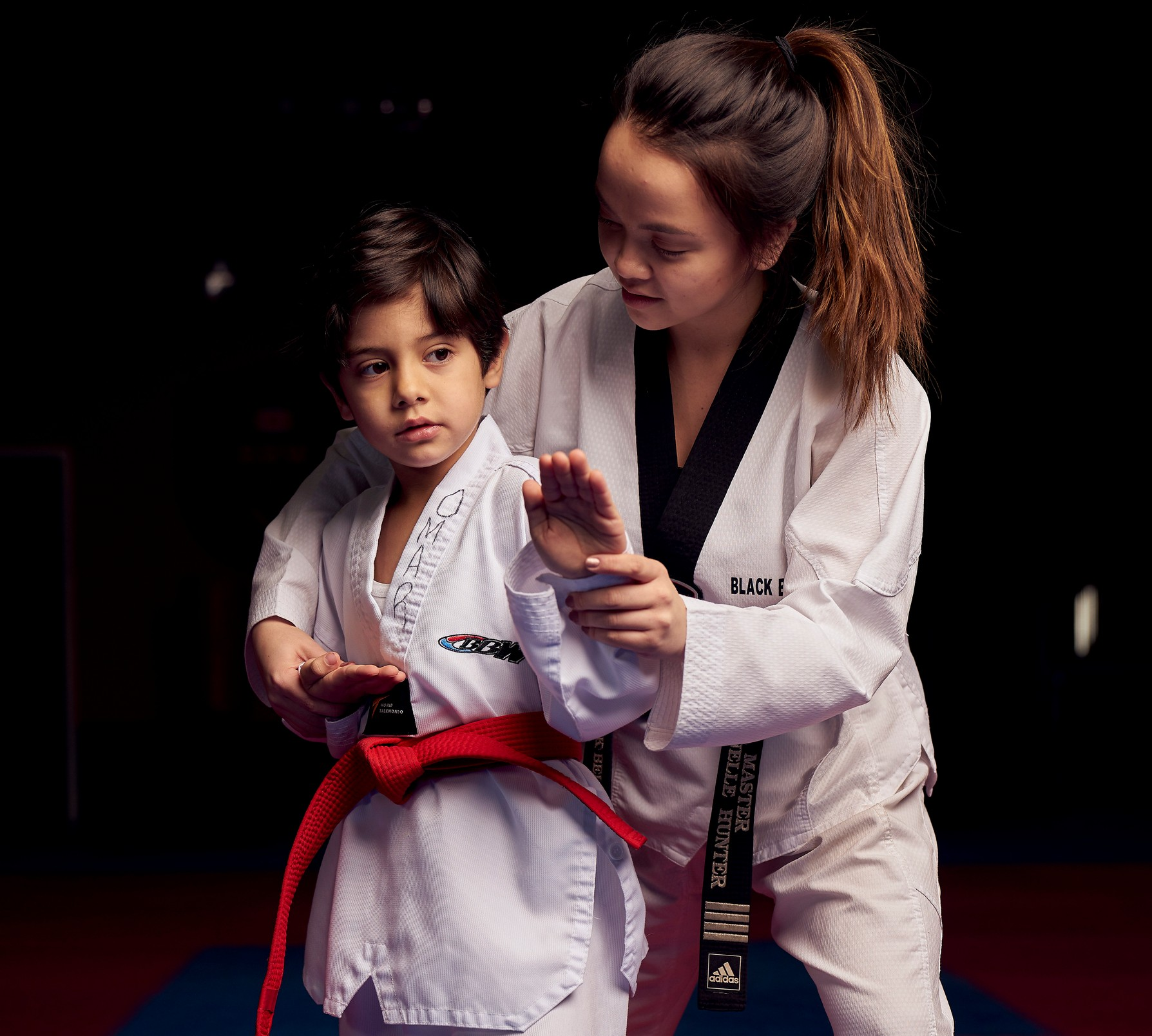 Children Taekwondo Training